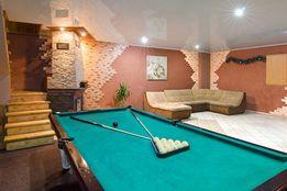 Посуточная аренда дома с сауной, бассейном, бильярдом до 20 человек.