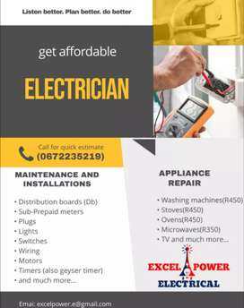 Affordable Electrician and appliance technician around Johannesburg,,
