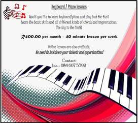 Keyboard/Piano Lessons