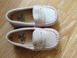 Новые замшевые мокасины, туфли, балетки испанской фирмы Tinny (TNY)