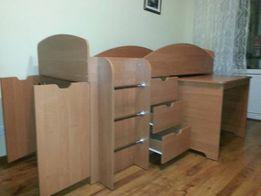 Детская универсальная кровать – Кровать + Ящики + Шкаф + Стол