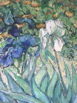 Obraz ręcznie malowany Irysy