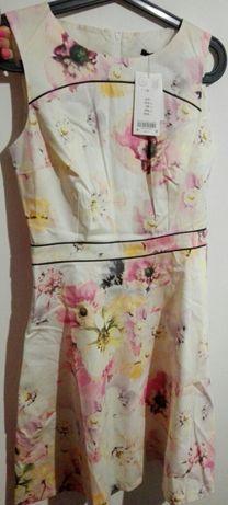 Sukienka w kwiaty Orsay 36 38 nowa z metką Toruń - image 1