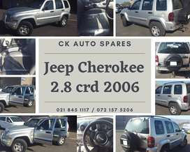 Jeep Cherokee 2.8 crd 2006 stripping for spares.