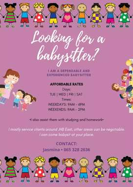 Looking for a reliable,trustworthy and experienced babysitter??