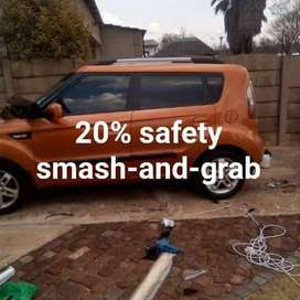 Special window tinting smash and grab