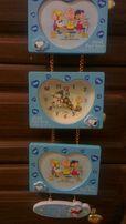 Детские настенные часы с фоторамками