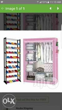 30pairs of shoe rack and wardrobe 0