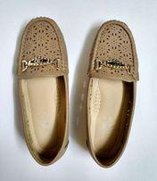 Мокасины женские светлые бежевые, 36 р. (туфли, лоферы)