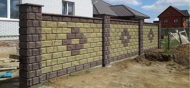 Блок заборный, блок колотый, блок декоративный, рваный камень, скала, Житомир - изображение 2