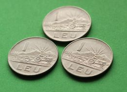 moneta 1 leu 1966 r. monety obiegowe Rumunia Europa jeden LEI z 66 r