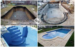 Бетонный быстровозводимый бассейн под ключ