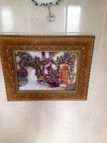 """Картина"""" Итальянский дворик"""". Вышивка бисером."""