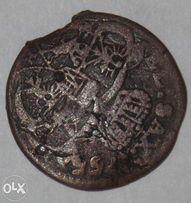 Польский коронный грош 1755 г. Августа III Толстого.
