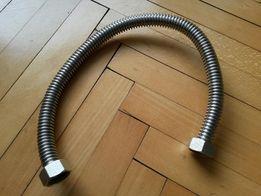 Wąż przyłączeniowy ze stali nierdzewnej 45 cm 1/2 cala