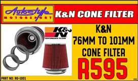 KandN RG-1001 Universal Air Filters      Designed to Increase Horsepow