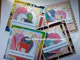 Kartki zakończenie szkoły przedszkola Dzień Nauczyciela podziękowanie
