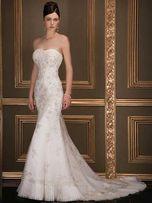Suknia ślubna Demetrios-Lisa Ferrera.