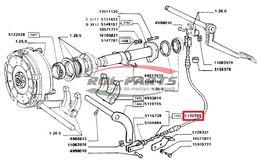 Linka sprzęgła Fiat 480 mm