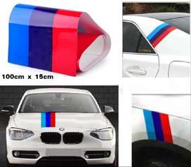 BMW stripes decals stickers - 3 colour motor sport