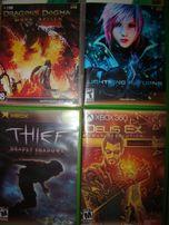 Диски, игры для Xbox 360 - Deus Ex, Dragon's Dogma, Perfect Dark Zero