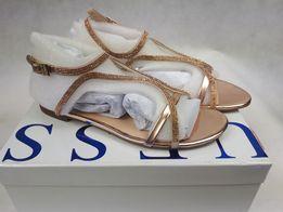 Nowe sandały klapki Guess cyrkonie pink róż 39 CUDO