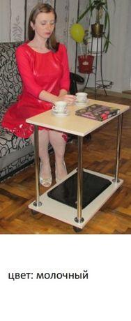 Журнальный столик на колесах с полкой. Подставка для ноутбука Доставка Киев - изображение 1
