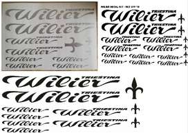 Wilier bicycle frame decals stickers graphics kits