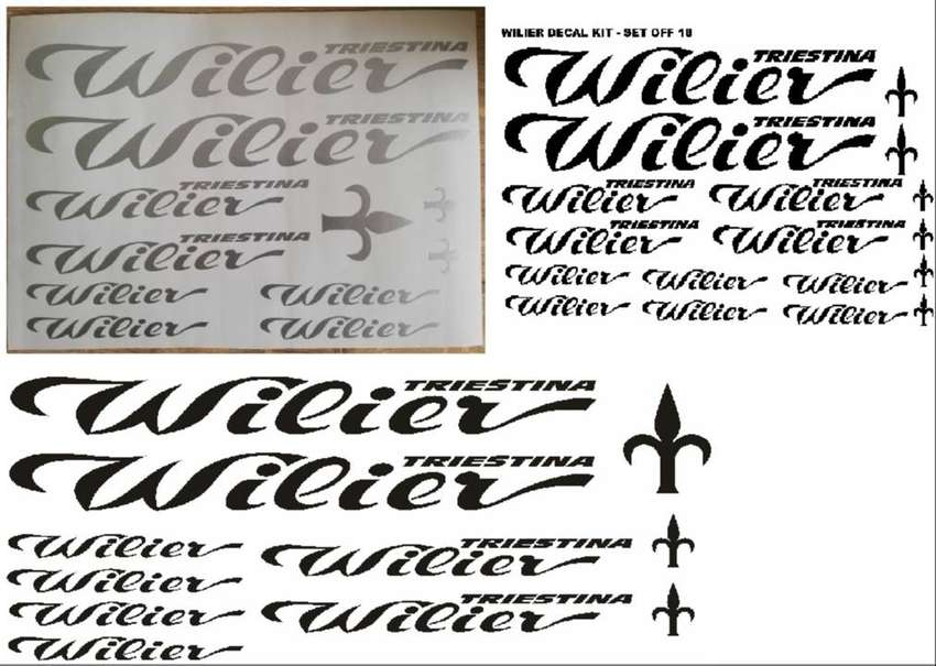 Wilier bicycle frame decals stickers graphics kits 0