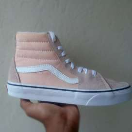 Colour Theory Old Skool Vans (Colour: Bleached Apricot/ True White)