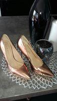 Gold Label szpilki buty Mohito złote 36 23 cm