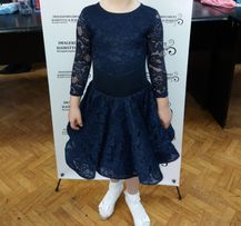Шикарное платье рейтинговое для бальных танцев (бейсик) 122-128