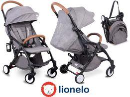 Wózek spacerowy Lionelo Julie ciemnoszary moskitiera torba gumowe koła