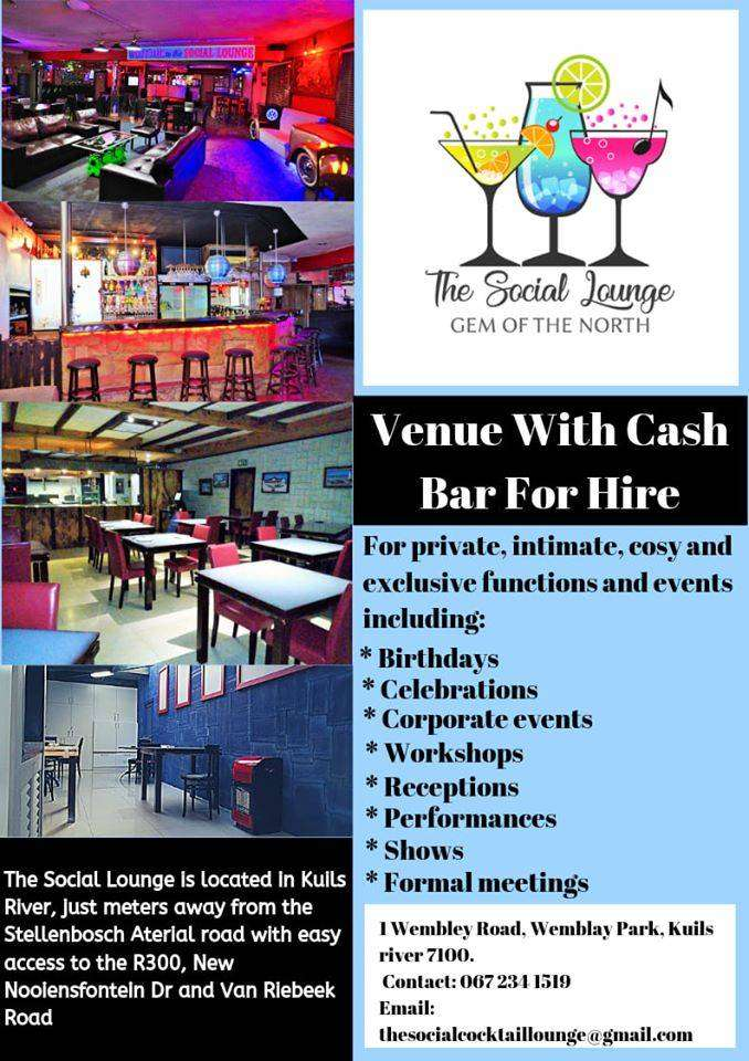 Venue With Cash Bar For Hire 0
