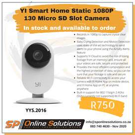 YI Smart Home Static 1080P 130 Micro SD Slot Camera