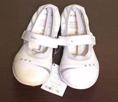 Новые туфли туфельки балетки Geox белые 32р, кожа