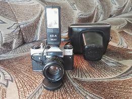 Aparat Fotograficzny ZENIT EM + lampa ELWA XELA 18LA1