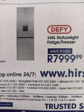 Defy 348l fridge