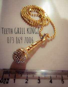 Microphone Pendant and Chain R250