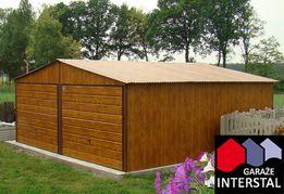 Garaże Blaszane Drewnopodobne 6x5 Drewnopodobny z Efektem 3D Dwuspad