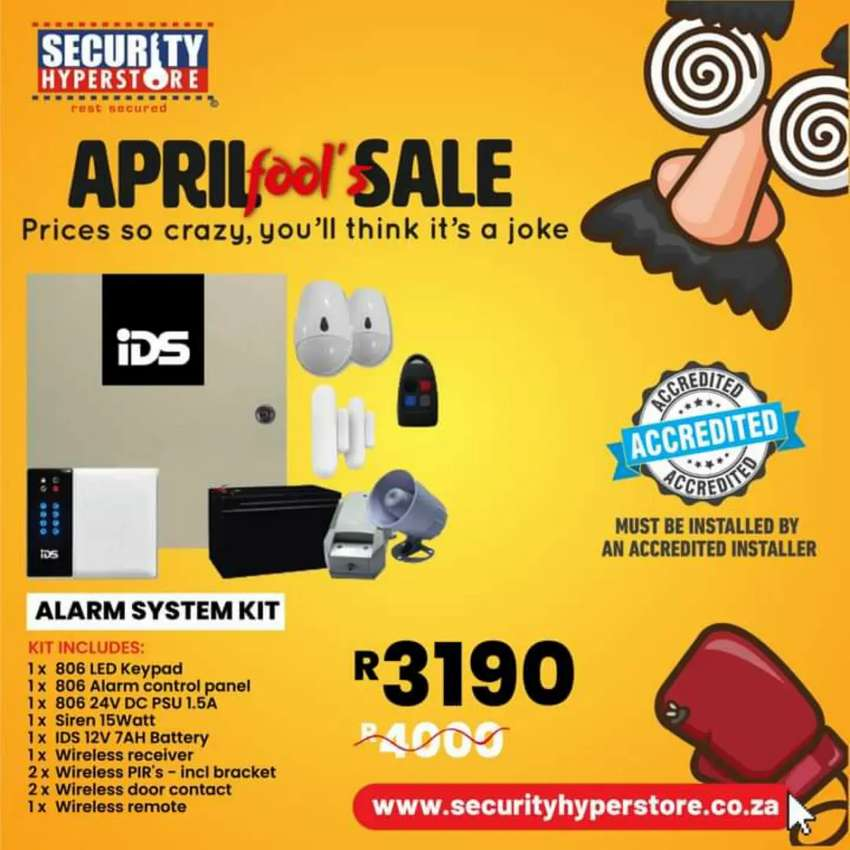 April Fool's Sale now on Security Hyperstore! Prices so crazy