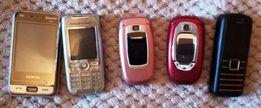 Продам 5-ть мобильных телефонов на запчасти