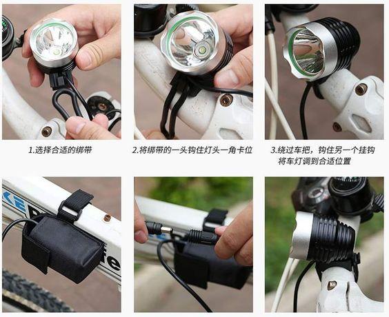 Вело фара USB 5 цвет CREE XM-L T6 LED 500Lm велосипед велофара фонарь Черкассы - изображение 7
