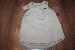 Sukienka zapinana na szelki (rozmiar 92-98)