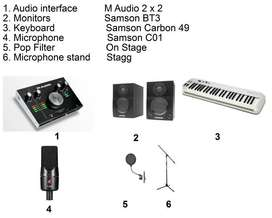 Complete Home Studio in a Box Package by M-Audio/ Samson  1.Samson C01