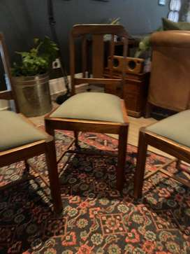 4 Upholstered Dining room chairs