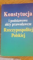 Konstytucja i podstawowe akty prawodawcze RP