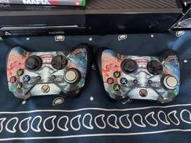 Xbox One, 2 Controllers, 5 Games.