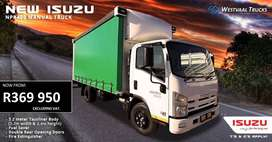 Isuzu NPR 400 Manual with Curtain Side
