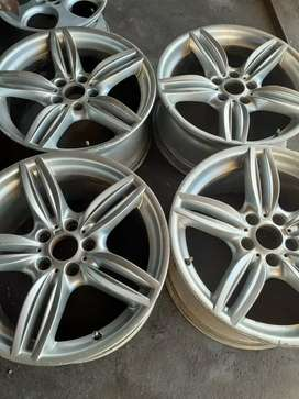 A set of rims and tyres for BMW f30 run flat tyres now available